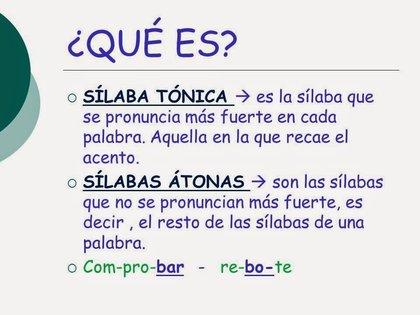 Diferencias Entre Atonas Y Tonicas Sílaba átona